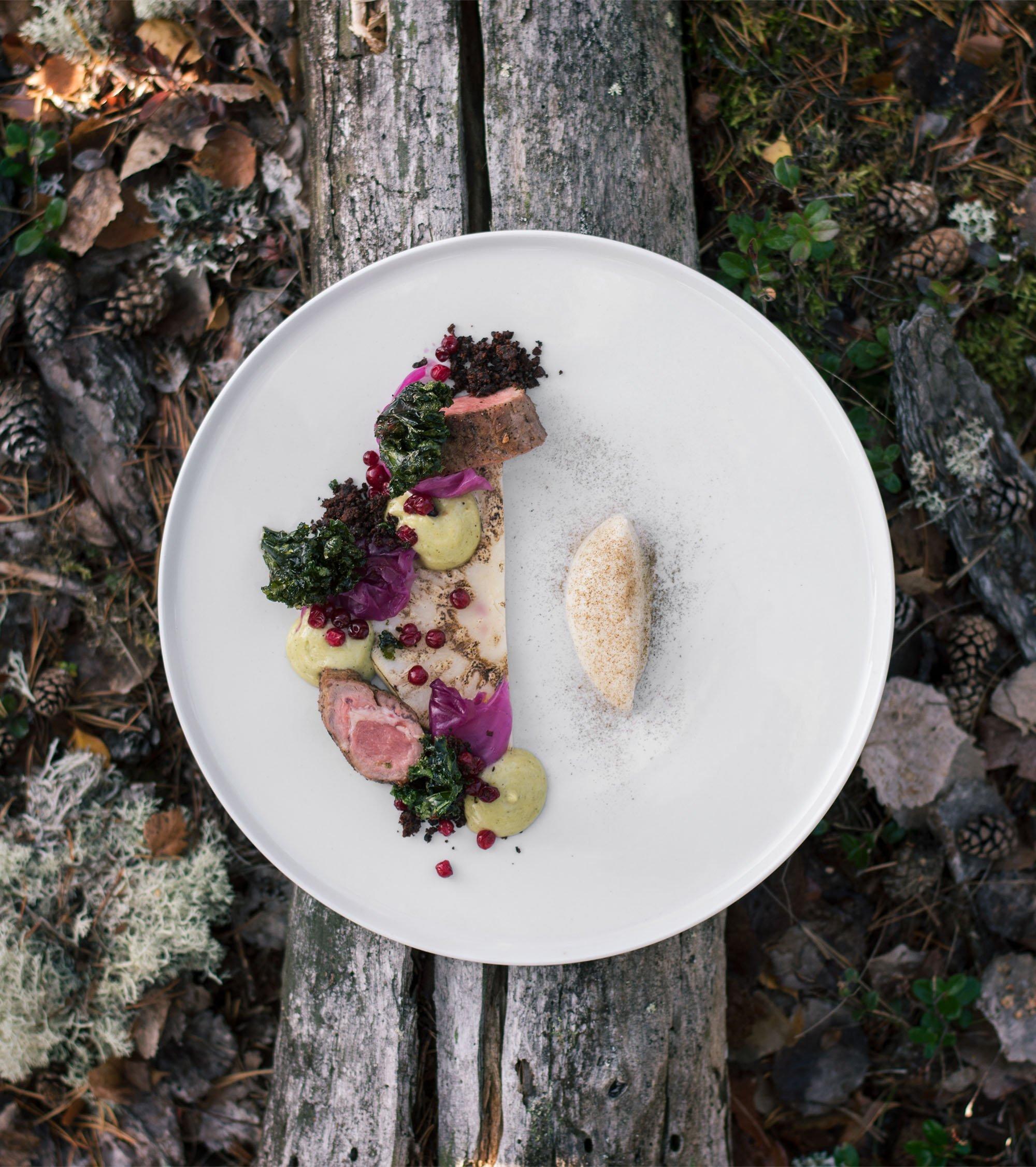 måltid på restaurang skog i sigtuna